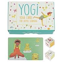 YOGI FUN Kids Yoga Cards Kit with Illustrations, Rhyming Poems, Birthday Activity...