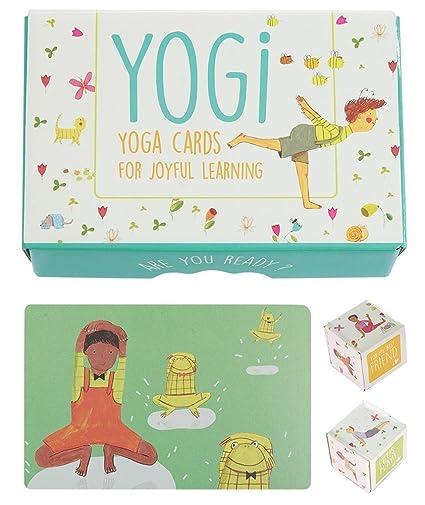 Amazoncom Yogi Fun Kids Yoga Cards Kit With Illustrations Rhyming