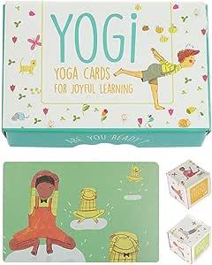 Yogi Fun Yogi kit Yoga Card Game with Illustrations, Rhyming Poems, 4 Activities and 2 Cardboard Dice