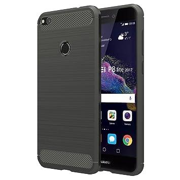 Simpeak Funda Compatible Huawei P8 Lite 2017 (5,2 Pulgadas), Fundas Huawei P8 Lite 2017 Carcasa P8 Lite 2017 (No para Huawei P8 Lite) Gel Silicona ...