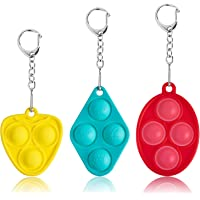 Mini Push Bubble Fidget Sensory Toys - Portable Simple Dimple Decompression Toys,Adult and Child Gift Keychain Push…