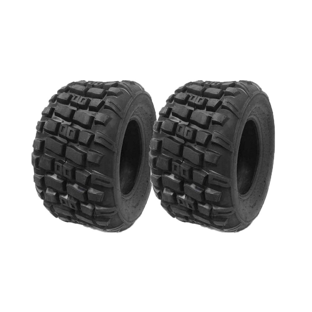SET OF TWO: ATV Tubeless Type Tires Size 20x10-9 (P143) for lower cc'd to mid-size ATVs or horse powered motors by MMG (Image #1)