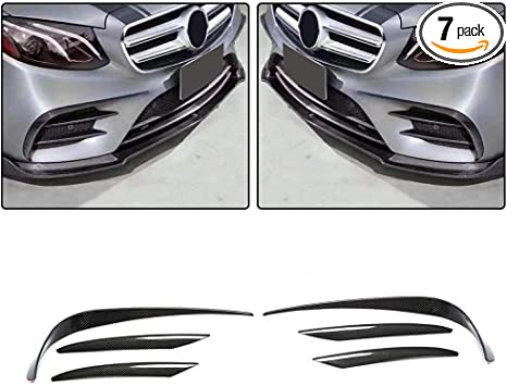 Chrome Front Bumper Fog Light Cover Decal Trims for Mercedes W213 E-Class Sport
