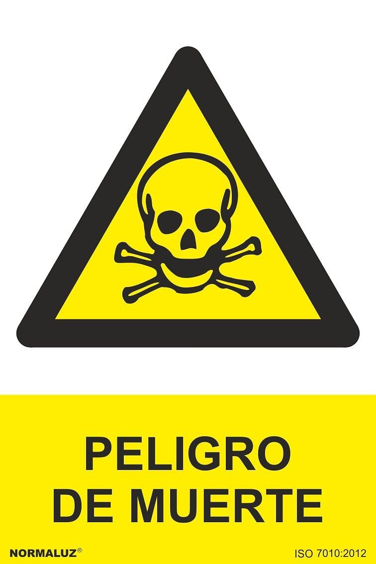 Se/ñal Adhesiva Peligro Muerte Adhesivo de Vinilo 15x20 cm Normaluz RD35654
