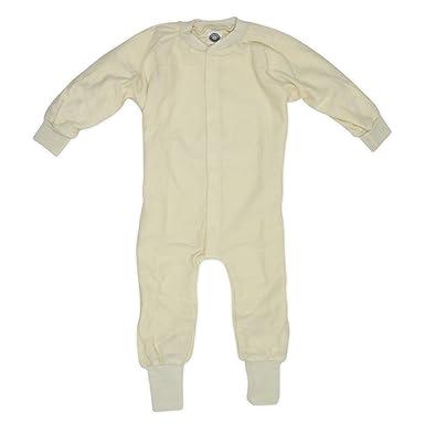a283d822e0e59b Cosilana Schlafanzug/Overall ohne Fuß, Größe 116, Farbe Natur aus 100%  Schurwolle
