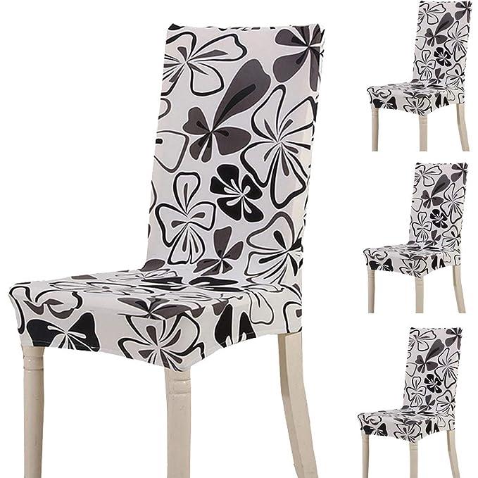 4 Fundas elasticas para sillas para comedor, boda, fiesta, banquetes.