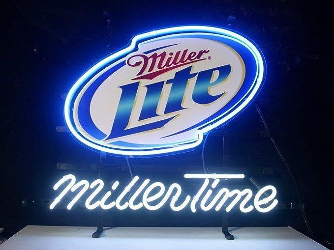 "New Miller Lite Beer Logo Man Cave Decor Bar Neon Light Sign 20/""x16/"""