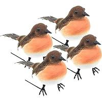 ToSSme 4pcs Gran Robin pájaro árbol de Navidad