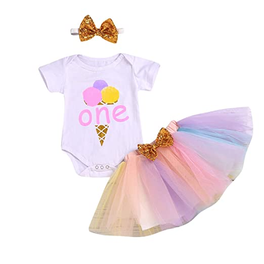 Cute Newborn Baby Girls Clothes Set Short Sleeve Cotton Romper Bodysuit Tops+tutu Skirt sequins Gold Bows Outfits Princess Suit Suitable For Men And Women Of All Ages In All Seasons Clothing Sets Mother & Kids