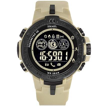 Reloj digital deportivo para hombres - pulsera impermeable para ejercicios al aire libre con podómetro /