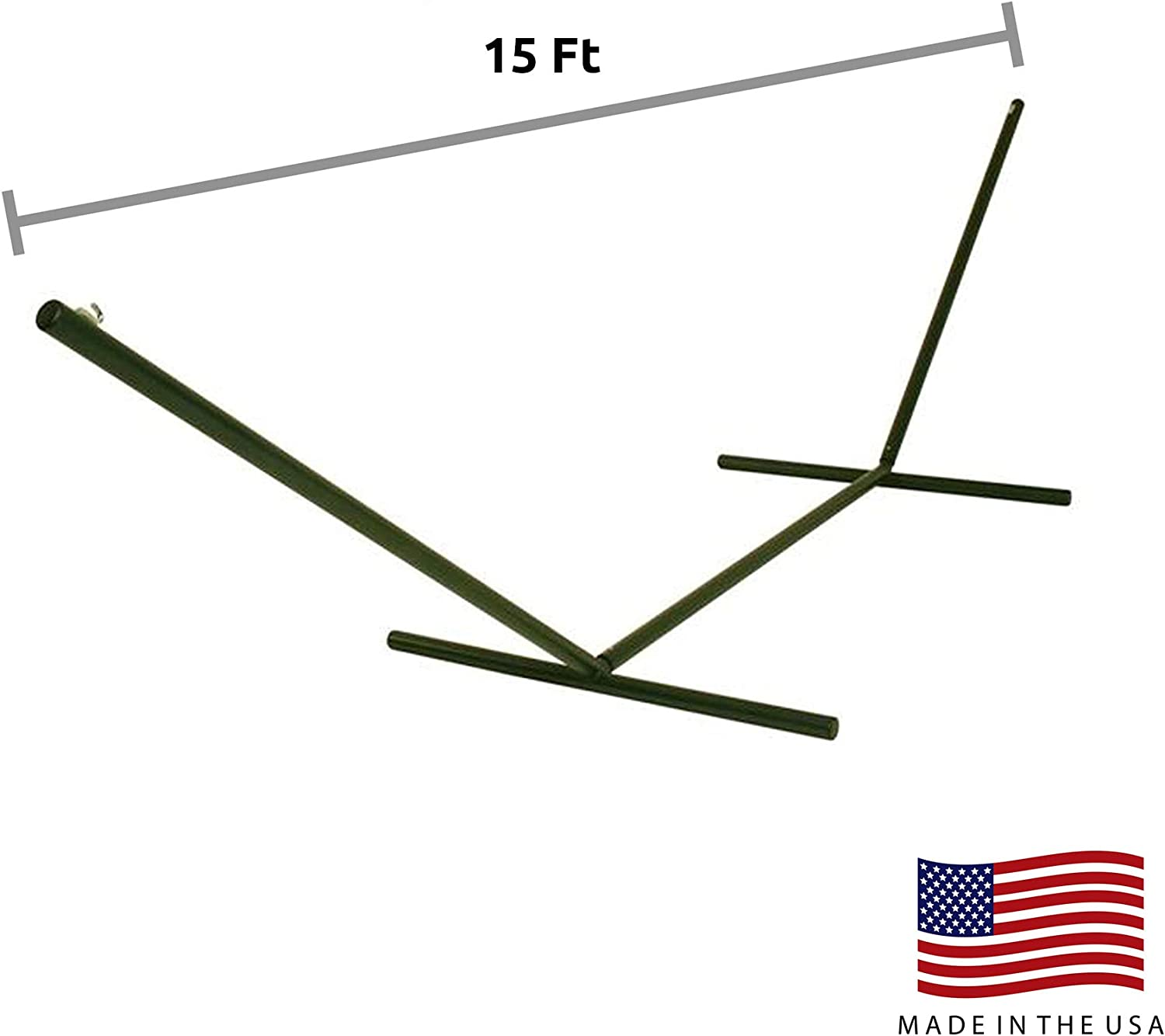 Hatteras 15 ft Tri-Beam Steel Hammock Stand Forest Green