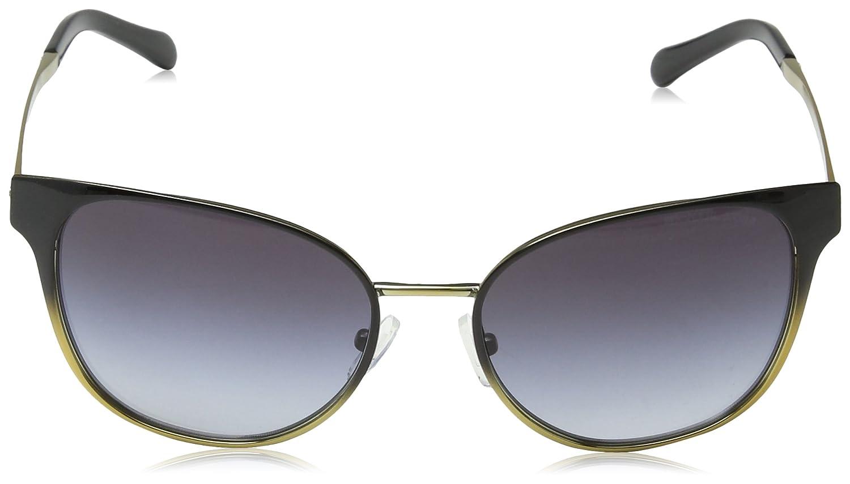 09bd3f832e Amazon.com  Michael Kors MK 1022 118111 Tia Black Gradient Pale Gold-Tone  Sunglasses  Clothing