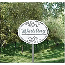 Wedding Yard Sign Kit - (6) Signs, (12) Ribbons, (18) Balloons, (6) Stakes