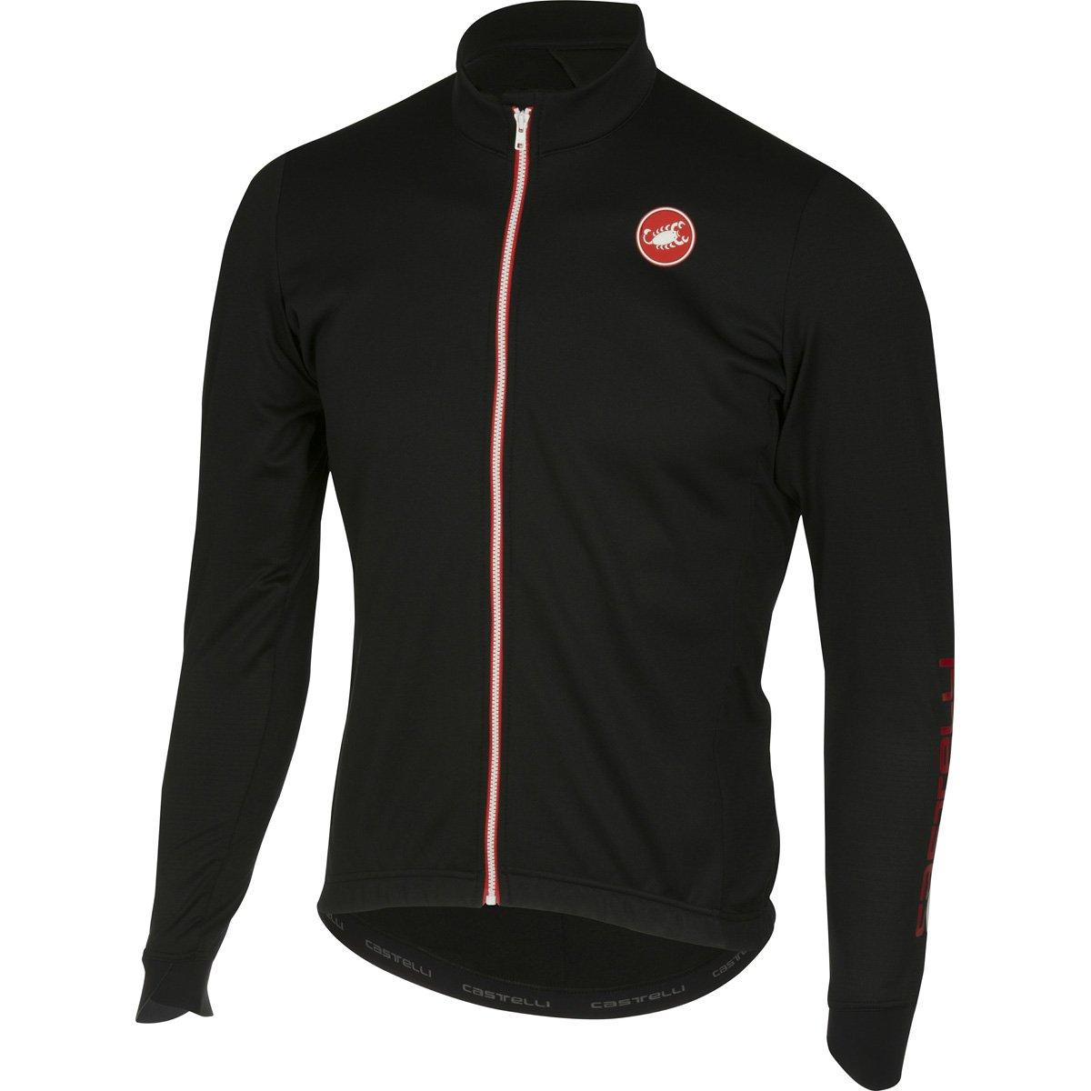 Castelli 2016 / 17メンズPuroフルZip長袖サイクリングジャージー – a16516 B01KWJ1T9O Large|ブラック ブラック Large