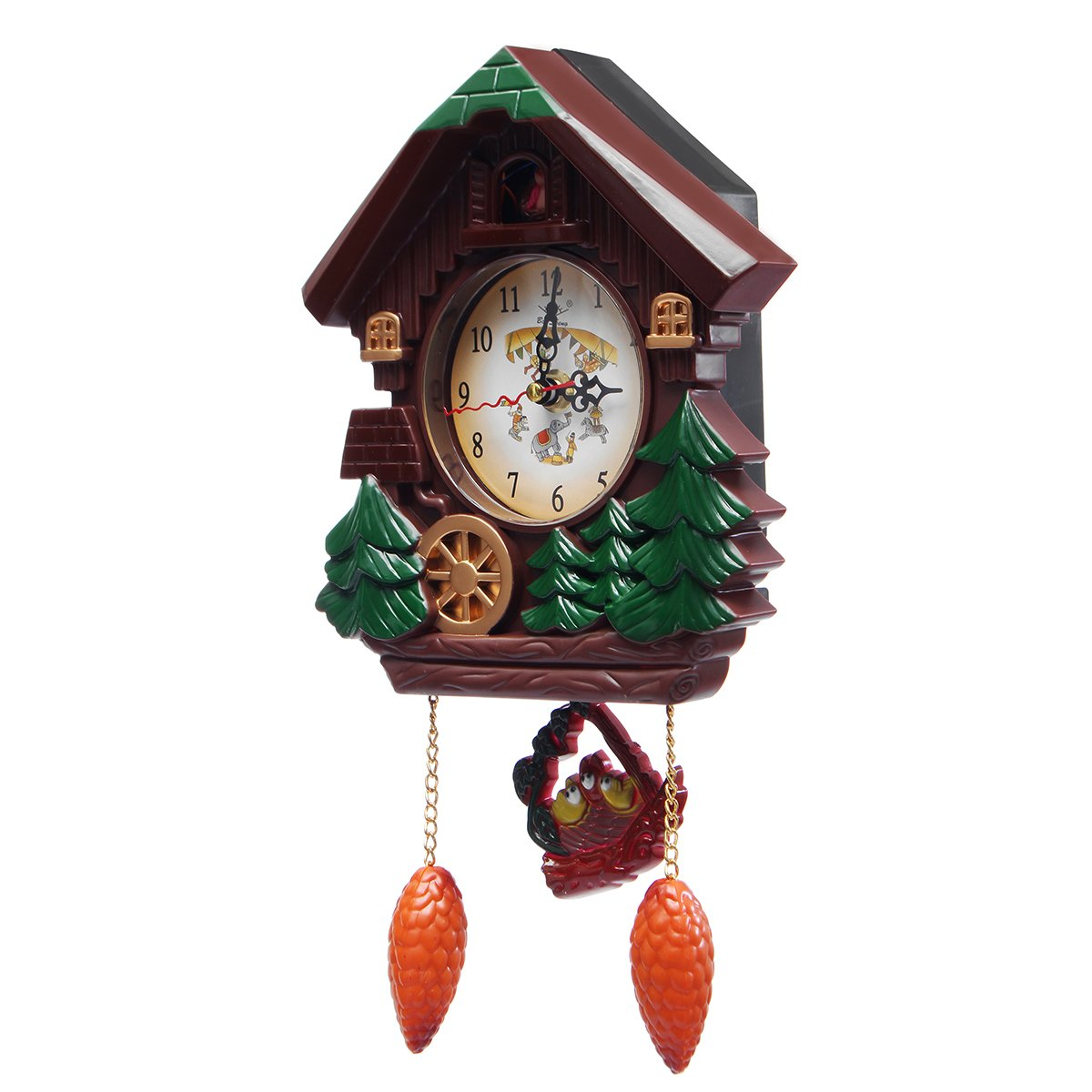 HAPYLY Handcrafted Wall Cuckoo Clock for Living Room Office Classroom Wall Decor Gift
