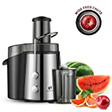 Kitchen Komforts Professional Juicer Juice Extractor, 700 W High Power Centrifugal Juicer with Wide Opening & Two-Speed Setting, Easy to Clean