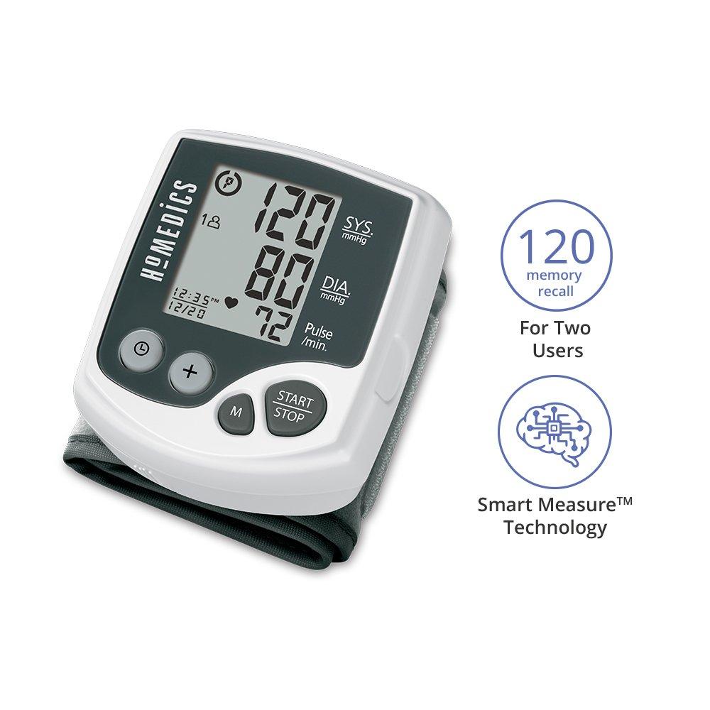 HoMedics BPW-060 - Tensiómetro (Muñeca, Automático, Negro, Blanco, 2 usuario(s), 40-199, 13,5-19,5 cm): Amazon.es: Hogar