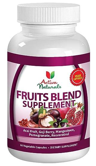 Amazon.com: Activa Naturals Suplemento de frutas con mezcla ...