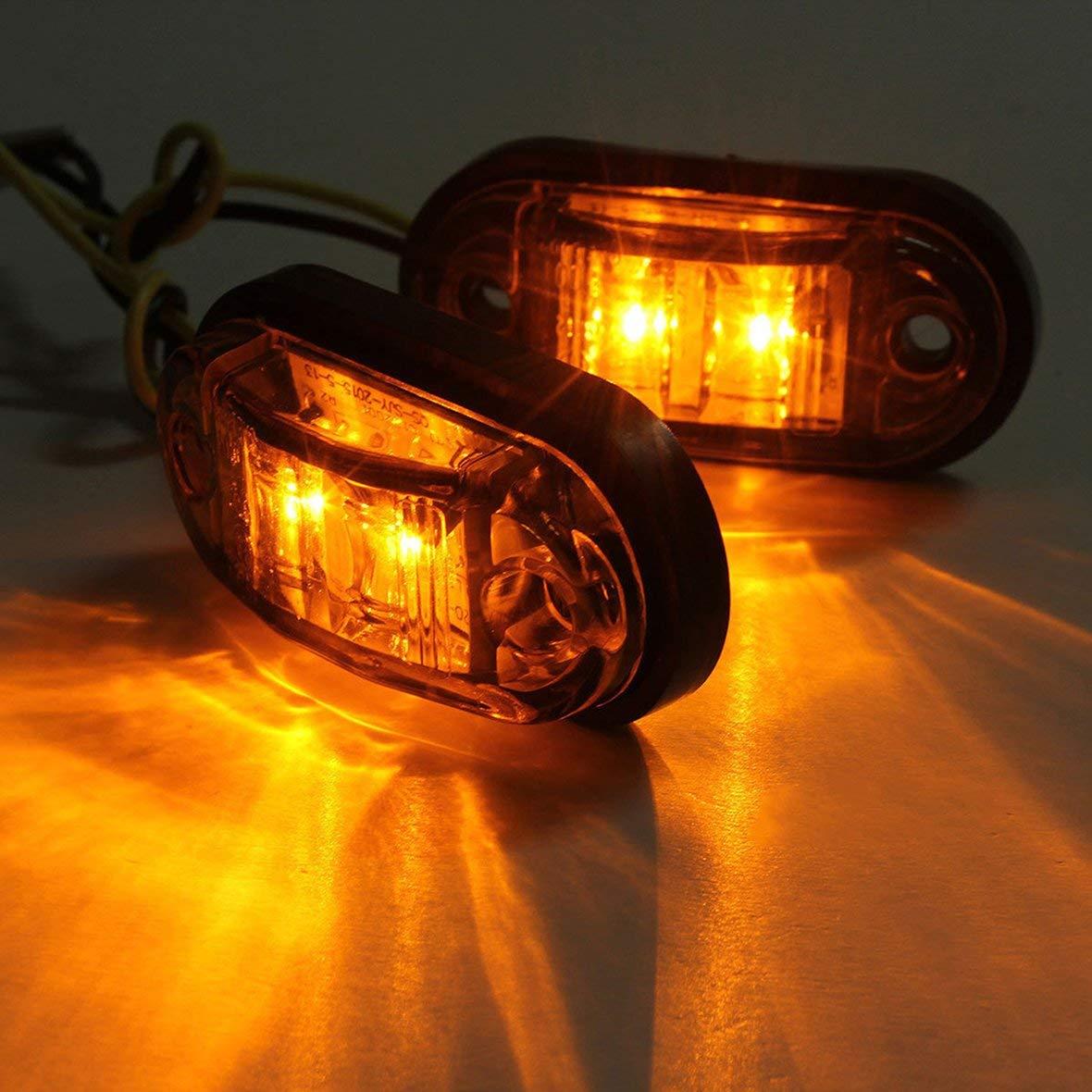 24V Luz super brillante Luz de marcador lateral LED Auto auto Luz de luz intermitente con luz intermitente para remolques de camiones de autom/óviles 12