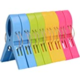 (12cm ) - Ilyever 8 Pack Fashion Colour Beach Towel Clips for Beach Chair or Pool Loungers on Your Cruise-jumbo Size-keep Your Towel From Blowing Away,clothes Lines
