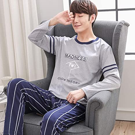 Pijamas algodón 100% para Hombres jóvenes Vestidos caseros de ...