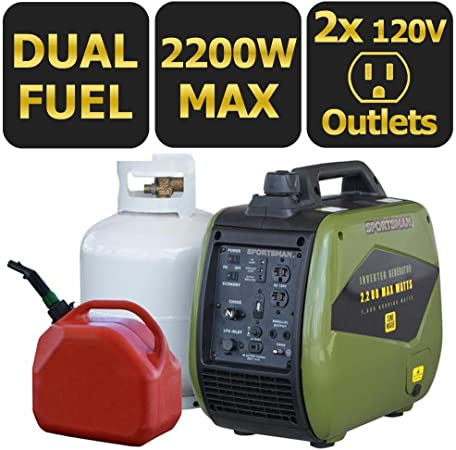 Amazon.com: Sportsman 2,200-watt Dual LPG de combustible/de ...