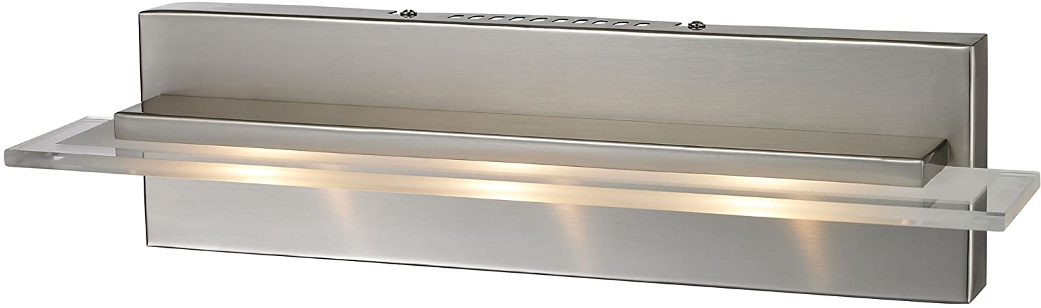 Elk 81072/3 18 By 4 1/2 Inch Linton LED 3 Light Bathroom Vanity Light With  White Glass Shade, Satin Nickel Finish   Vanity Lighting Fixtures    Amazon.com