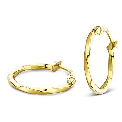 e232d3c7a63a92 Orovi Ohrringe Damen Gelbgold 14 Karat 585 Gold Creolen  Amazon.de  Schmuck