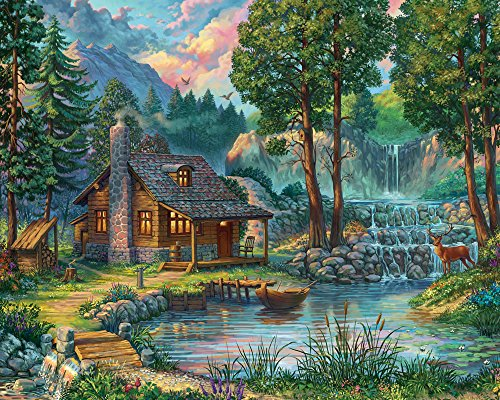 1000 Puzzle Piece House (Vermont Christmas Company House by the Lake Jigsaw Puzzle 1000 Piece)