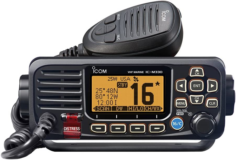 Icom M330G 31 Compact Basic VHF with GPS, 4.3 lbs: Sports & Outdoors