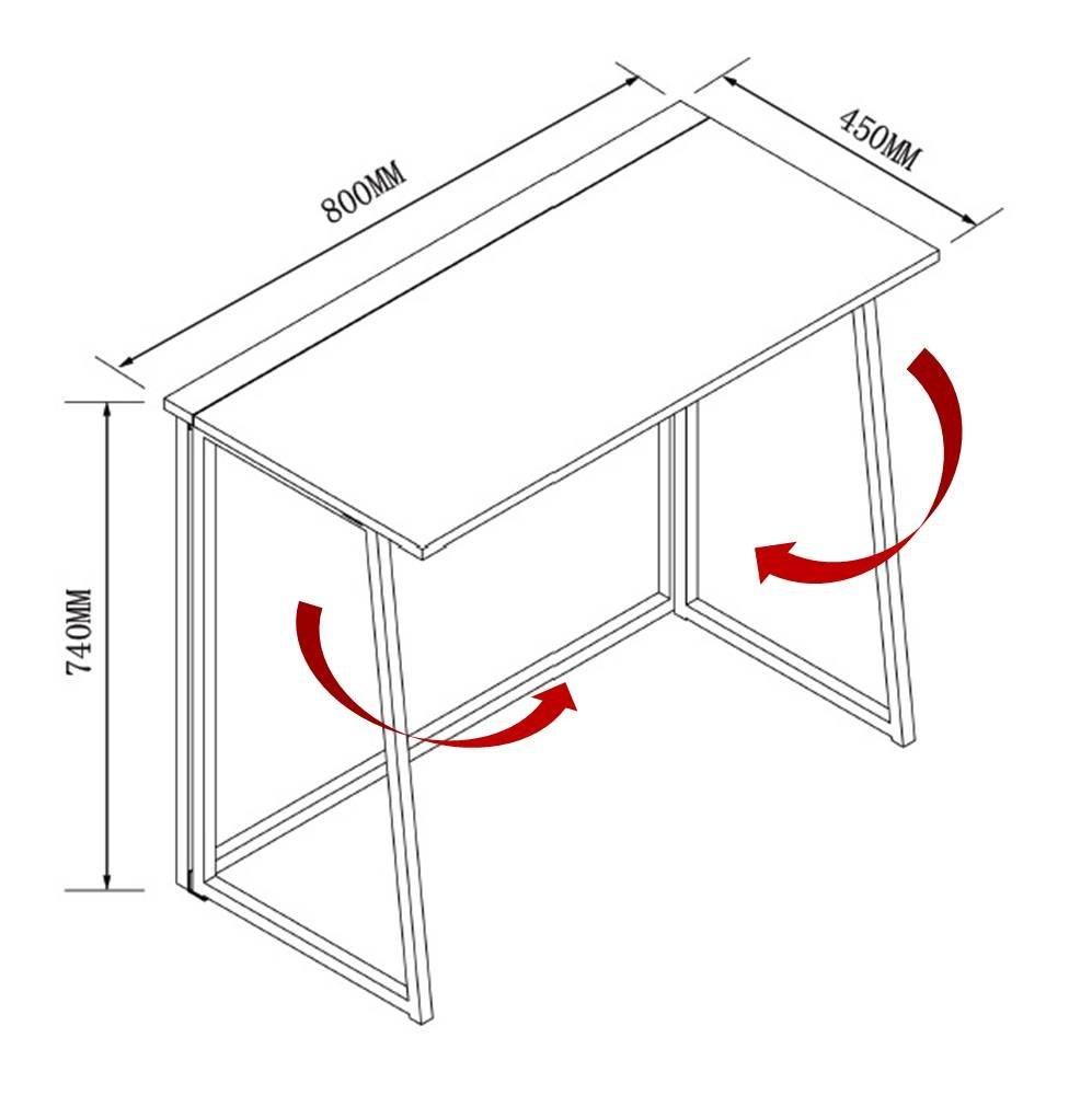 cherrytree furniture compact flip flop folding computer desk home