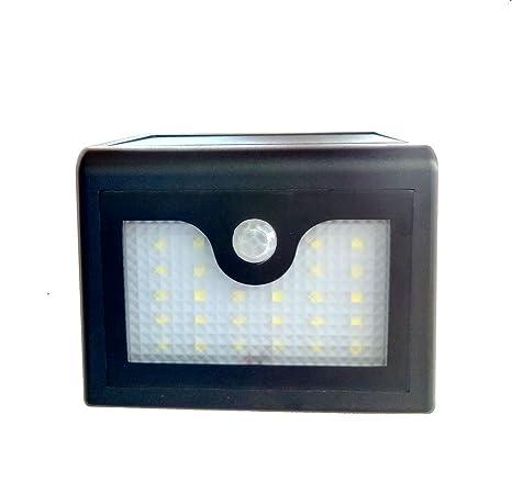 Puhong Luz impermeable de la noche de la pared de Solor del LED de con el