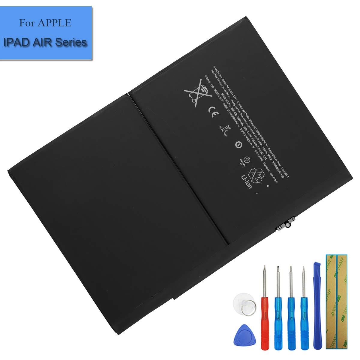 Bateria Tablet A1484 6712-6700 para Apple iPad Air A1475, iP