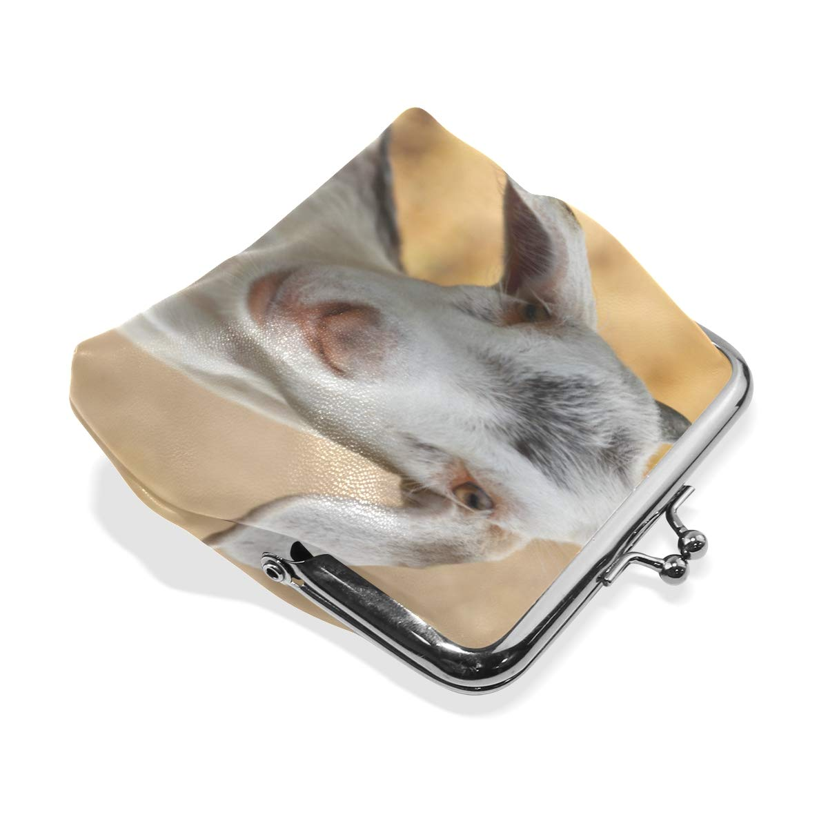 CLveg Coin Purse Card Package Coin Leather for Women Printing Series Goat