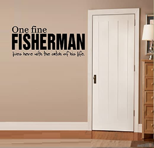 One Fine FISHERMAN LIVES HERE With The CATCH Of His Life METAL Fishing SIGN