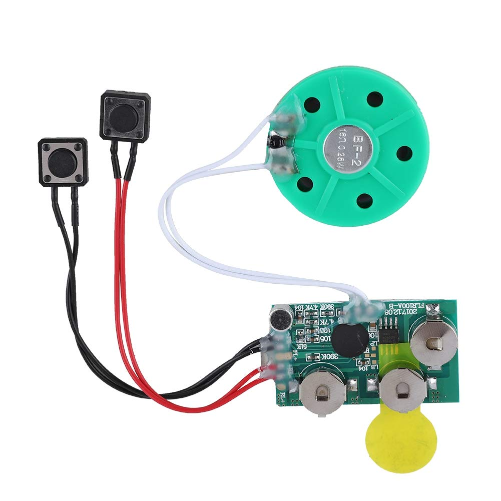 Fosa 4 Minutes DIY Greeting Card Chip Music Sound Voice Recording Module Device Chip Recordable Sound Chip for Christmas Cards, Holiday Creative Gift Boxes, Jewelry Boxes, Crafts, Children's Toys Children' s Toys fo sa