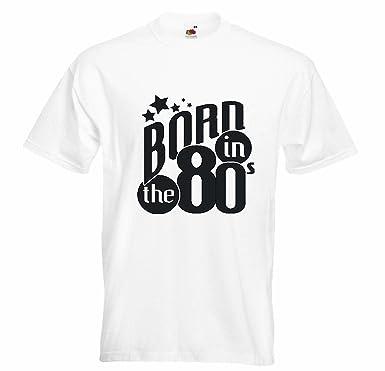 T-Shirt Camiseta Remera Born IN The 80 Nacidos en los años ...