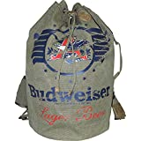 Budweiser by Buxton Men's Eagle Wings Drawstring Bucket Bag, Green, For Sale