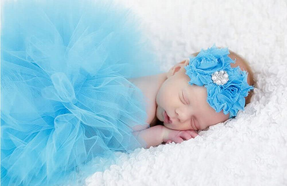 Yonger Newborn Girls Photo Photography Prop Tutu Skirt Headband Outfits