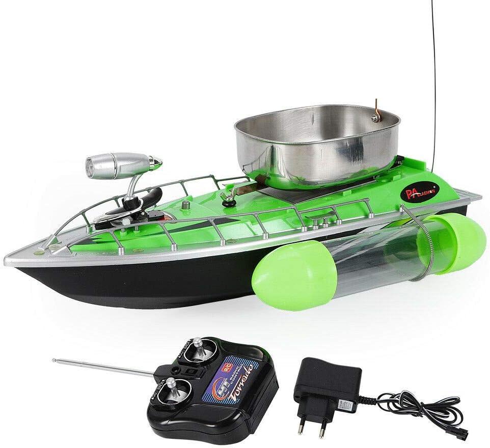 Fernsteuerungsboot Futterboot Edelstahl mit 5200 mAh Akku Blau 80-300M AC220V