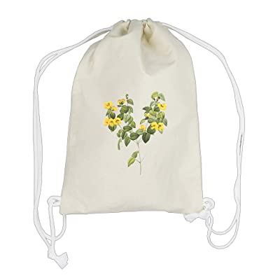 Backpack Drawstring Bag Cotton Canvas Flower Style 42 By Style In Print