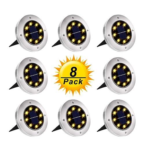 Amazon.com: Luces solares para el suelo, luces de jardín al ...