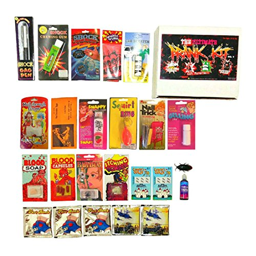 Price comparison product image New The Ultimate Prank Kit No.1, 24 pranks all in 1 kit, Fake Lotto, Fart Bombs -(Assorted Kind)