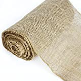 BalsaCircle 12-Inch x 10 Yards Natural Brown Burlap Fabric by The Bolt - Wedding Party Decorations Sewing DIY Crafts Costumes Supply