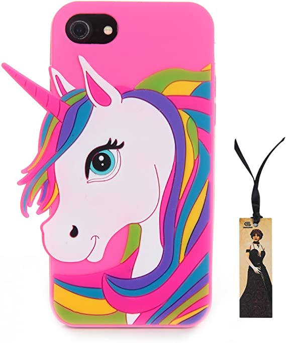 CASESOPHY 3D Cartoon Unicorn Case for