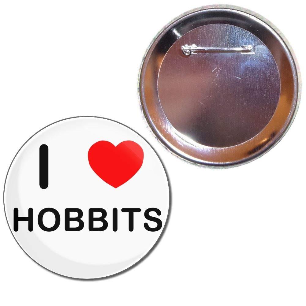 I Love Hobbits - Bouton choix de badges de 25mm, 55mm ou 77mm taille BadgeBeast