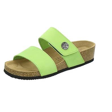AFS-Schuhe 2745B, Pantolette Damen Komfort, Bequeme Hausschuhe, Hochwertiges.  Echtes Leder