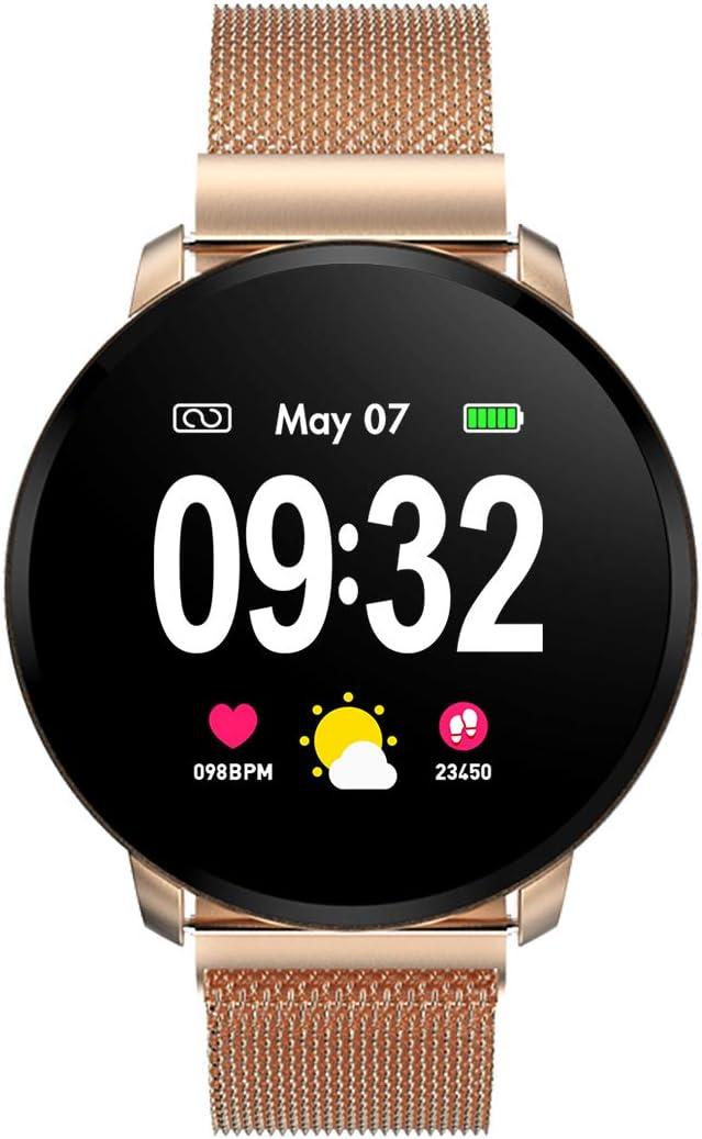 Smartwatch Fashion para Hombre Mujer Impermeable Reloj Inteligente Monitores de Actividad Fitness Tracker con Monitor de Sueño Pulsómetros Podómetro Compatible con iOS Android