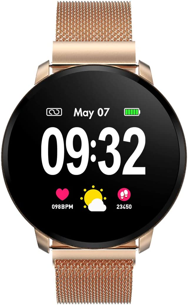 GOKOO Smartwatch Fashion para Hombre Mujer Impermeable Reloj ...