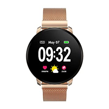 Smartwatch Fashion para Hombre Mujer Impermeable Reloj Inteligente Monitores de Actividad Fitness Tracker con Monitor de Sueño Pulsómetros Podómetro ...